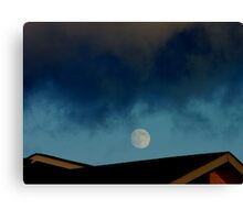 Mooning Roofs.... Canvas Print