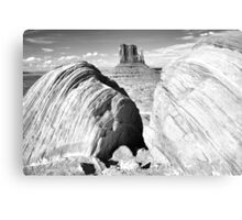 Mitten and Boulders, Monument Valley Canvas Print