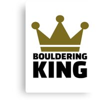 Bouldering king Canvas Print