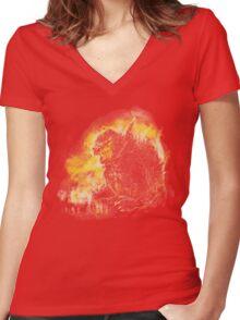 godzillava Women's Fitted V-Neck T-Shirt