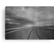 in the garden of my dreams there will be a road to nowhere Canvas Print
