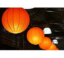 Seasonal Lanterns at the Chelsea Market Photographic Print