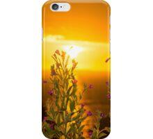 wild flowers coastal sunset iPhone Case/Skin
