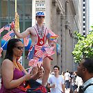 A gay man with American flags by Tomoe Nakamura