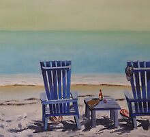 Blue Chairs by Norbert Haupt