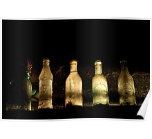 Antique Light & Bottles - viewed properly Poster