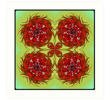 Xmas Roses Art Print