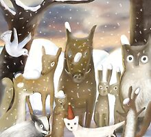 Winter in the woods by catherinelouise