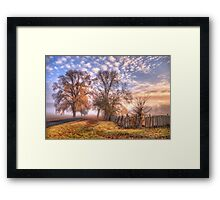 Down a Country Lane - Hill End NSW - The HDR Experience Framed Print