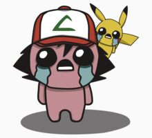 The Binding Of Isaac/Pokémon Crossover - Ash Ketchum and Pikachu (Kanto) Kids Clothes