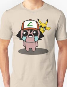 The Binding Of Isaac/Pokémon Crossover - Ash Ketchum and Pikachu (Kanto) T-Shirt