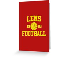 Lens Football Athletic College Style 2 Color Greeting Card