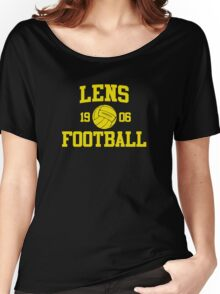 Lens Football Athletic College Style 2 Color Women's Relaxed Fit T-Shirt