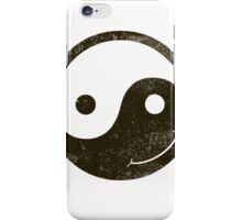yin yang smiley iPhone Case/Skin