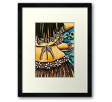 Aloha Blue Framed Print