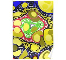 Strange colorful different pattern Poster