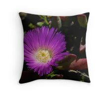 Purple Pigface Throw Pillow