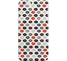 Red and Black Lips Pattern iPhone Case/Skin