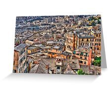 Genoa panoramic Greeting Card