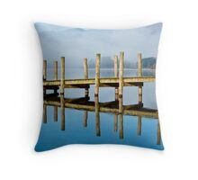 Ferry Landing at Barrow Bridge Throw Pillow