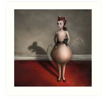 Consequences for the Impolite cat Art Print