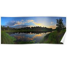 Sunrise down by the pond Poster