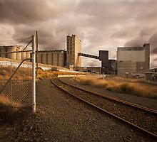 Geelong Grain Terminal - Rear View by Jack Jansen