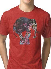 Floral Elephant Tri-blend T-Shirt