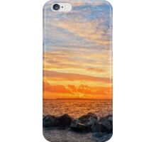 yellow sunset and soft water at beal beach iPhone Case/Skin