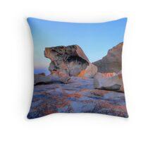 Remarkable Rocks at sunset on Kangaroo Island Throw Pillow