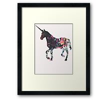 Floral Unicorn 3 Framed Print