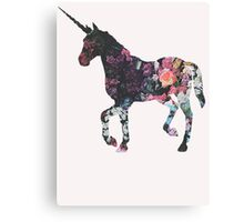 Floral Unicorn 3 Canvas Print