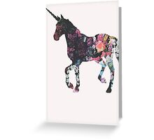 Floral Unicorn 3 Greeting Card