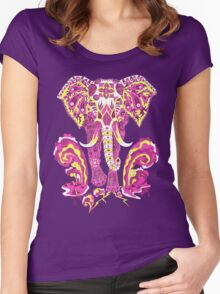 Apocalypse elephant Women's Fitted Scoop T-Shirt