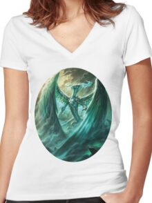 Ugin magic the gathering Women's Fitted V-Neck T-Shirt