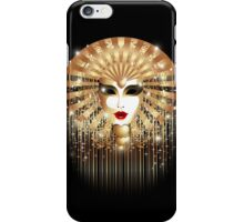 Golden Venice Carnival Mask  iPhone Case/Skin