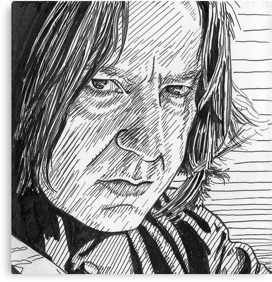 Severus Snape - inky fingers by iszi