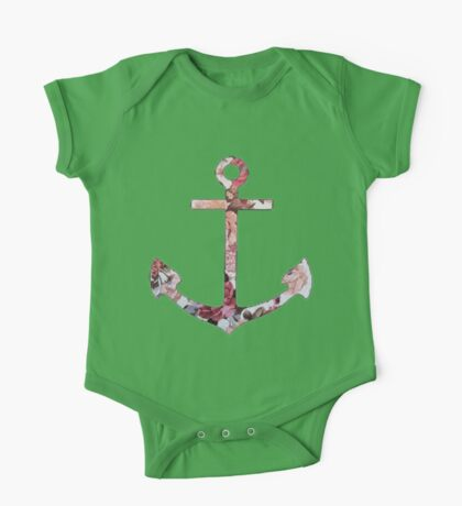 Floral Anchor 5 One Piece - Short Sleeve