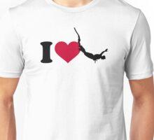 I love bungee jumping Unisex T-Shirt