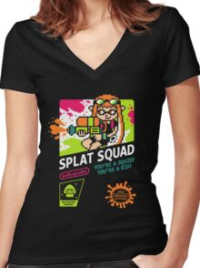 SPLAT SQUAD Women's Fitted V-Neck T-Shirt