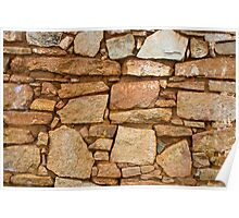 Old Stone Wall Poster