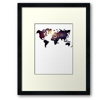 Galaxy World Map Framed Print