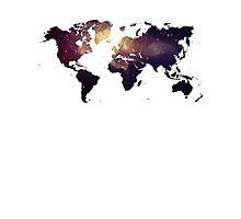 Galaxy World Map Photographic Print