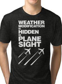 Weather Modification, Hidden in Plane Sight Tri-blend T-Shirt