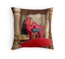 Candle driven rotating nativity Christmas decoration Throw Pillow