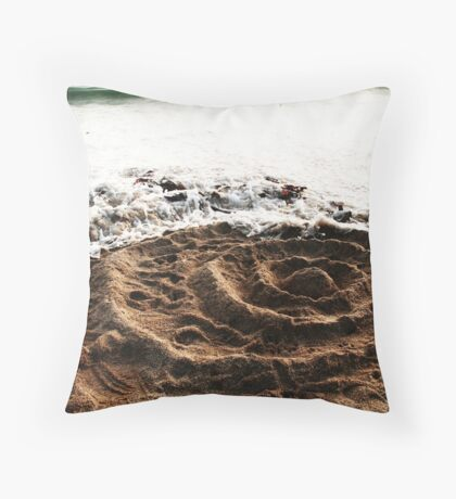 Rings In The Sand Throw Pillow