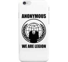 Anonymous - We Are Legion iPhone Case/Skin