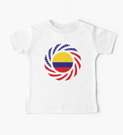 Colombian American Multinational Patriot Flag Series Baby Tee