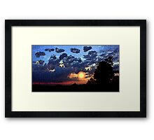 Sunset With Tree Framed Print