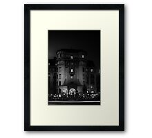 Black and White Street Framed Print